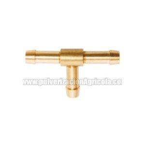 T tubo de latón triple de 10 mm