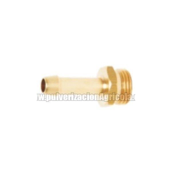 Racor de latón macho 1/2″ tubo de 8 mm