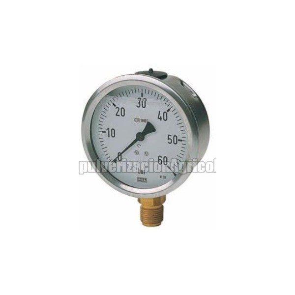 Manómetro con glicerina vertical 63 Ø 0-4 bar