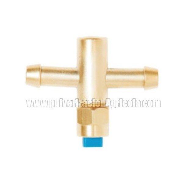 Portaboquilla de latón completo doble tubo 8 mm